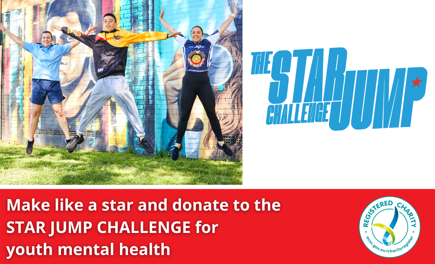 Donate to support the star jump challenge for mental healt